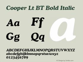 Cooper Bold Italic BT mfgpctt-v1.53 Friday, January 29, 1993 3:42:59 pm (EST)图片样张