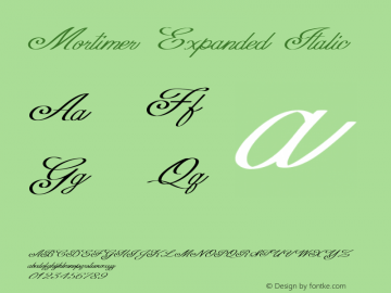 Mortimer-ExpandedItalic Version 1.000图片样张