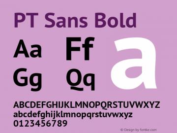 PT Sans Bold Version 2.003W OFL图片样张