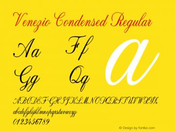 Venezio-CondensedRegular Version 1.000图片样张