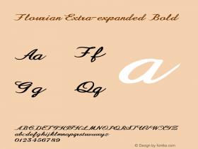 Flourian-ExtraexpandedBold Version 1.000图片样张