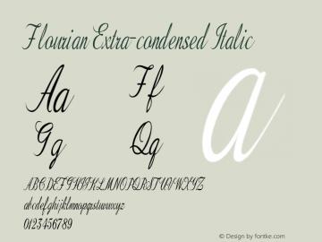 Flourian-ExtracondensedItalic Version 1.000图片样张