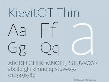 KievitOT-Thin Version 7.460;PS 7.046;hotconv 1.0.38图片样张