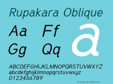 Rupakara-Oblique Version 1.002图片样张
