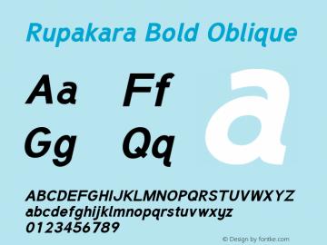Rupakara-BoldOblique Version 1.002图片样张