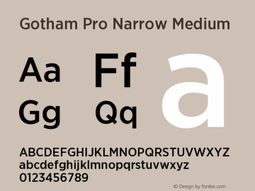 GothamPro-NarrowMedium Version 1.100; Cyrillic Support图片样张