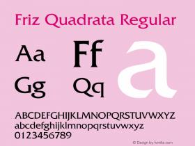 FrizQuadrata OTF 1.0;PS 001.003;Core 1.0.22图片样张