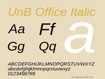 UnBOffice-Italic Version 1.001图片样张