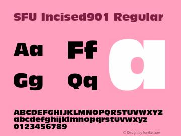 SFU Incised901 Macromedia Fontographer 4.1.5 10/5/05图片样张