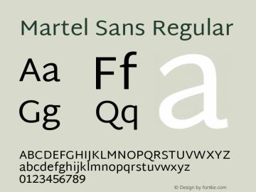 Martel Sans Version 1.001; ttfautohint (v1.1) -l 5 -r 5 -G 72 -x 0 -D latn -f none -w gGD -W -c图片样张