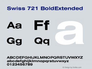 Swiss 721 Bold Extended Version 003.001图片样张