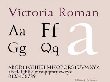 Victoria Font,Victoria-Roman Font|Victoria-Roman Version 1 001 Font