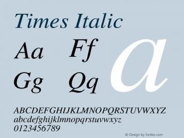 Times-Italic 002.000图片样张