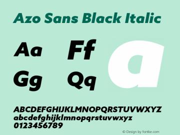 AzoSans-BlackItalic Version 1.001图片样张