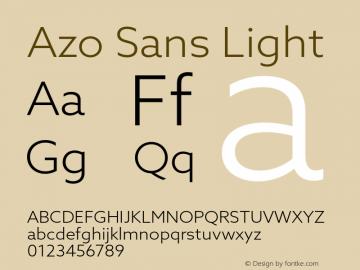 AzoSans-Light Version 1.001图片样张