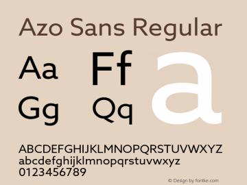 AzoSans-Regular Version 1.001图片样张