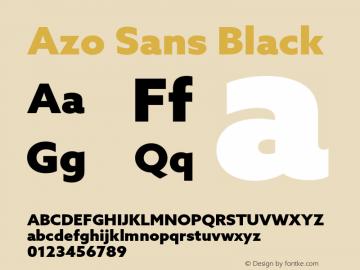 AzoSans-Black Version 1.001图片样张