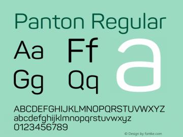 Panton Version 1.000;PS 001.000;hotconv 1.0.70;makeotf.lib2.5.58329图片样张