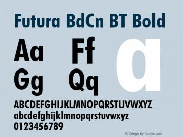 Futura BdCn BT Font,Futura Bold Condensed BT Font,FuturaBT