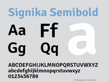 Signika-Semibold Version 1.001图片样张