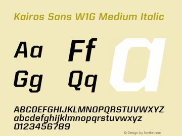 KairosSansW1G-MediumItalic Version 1.00图片样张