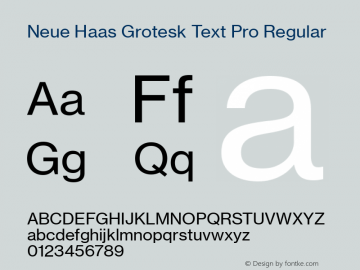 Neue Haas Grotesk Text Pro Version 1.05图片样张