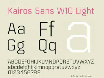 KairosSansW1G-Light Version 1.00图片样张