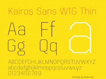 Kairos Sans W1G Thin Version 1.00图片样张