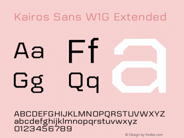 KairosSansW1G-Ext Version 1.00图片样张