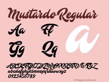 Mustardo Version 1.000;PS 001.001;hotconv 1.0.56图片样张