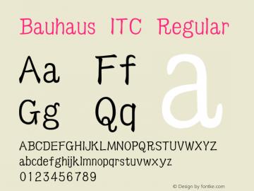 BauhausITC Version 1.20图片样张