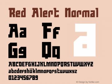 Red Alert Version 1.0图片样张