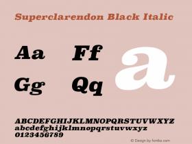 Superclarendon Black Italic 9.0d4e1图片样张