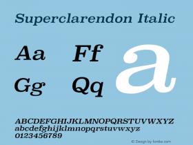 Superclarendon Italic 9.0d4e1图片样张