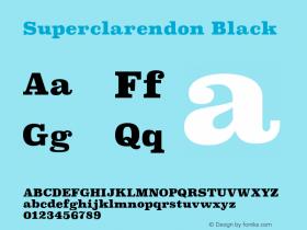 Superclarendon Black 9.0d4e1图片样张