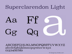 Superclarendon Light 9.0d4e1图片样张