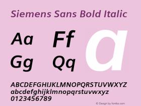 Siemens Sans Bold Italic 4.00图片样张