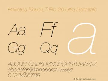 HelveticaNeueLTPro-UltLtIt Version 1.500;PS 001.005;hotconv 1.0.38图片样张