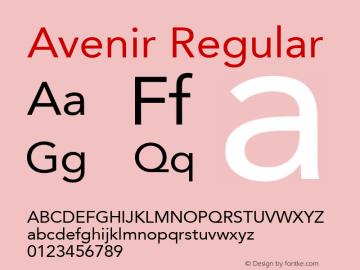 Avenir 55 Roman Version 2.0; 2001; initial release图片样张