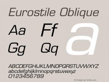 Eurostile-Oblique 001.002图片样张