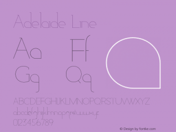 Adelaide-Line Version 1.000;PS 001.000;hotconv 1.0.88;makeotf.lib2.5.64775图片样张