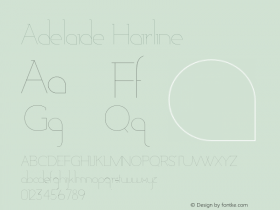 Adelaide-Hairline Version 1.000;PS 001.000;hotconv 1.0.88;makeotf.lib2.5.64775图片样张