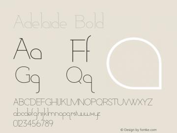 Adelaide-Bold Version 1.000;PS 001.000;hotconv 1.0.88;makeotf.lib2.5.64775图片样张