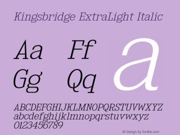 KingsbridgeEl-Italic Version 1.000图片样张