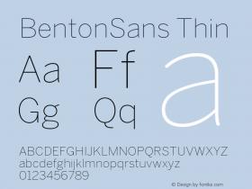BentonSans Thin Version 4.002 June 28 2011图片样张