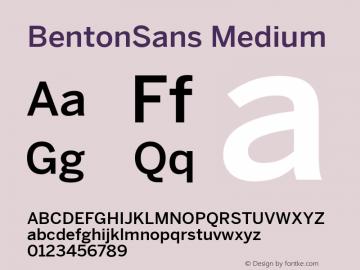 BentonSans Medium Version 4.002 June 28 2011图片样张