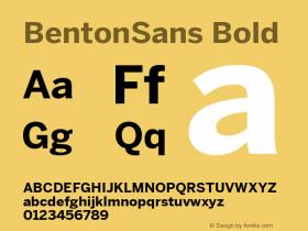 BentonSans Bold Version 4.002 June 28 2011图片样张