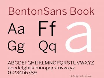 BentonSans Book Version 4.002 June 28 2011图片样张