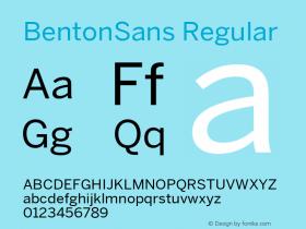 BentonSans Regular Version 4.002 June 28 2011图片样张