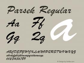 Parsek Converted from t:\PARSEK.TF1 by ALLTYPE图片样张